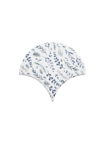 Azulejo escama de pez decor 3 15x14,2 cm pasta blanca. Un revestimiento de pasta blanca de alta calidad para decoraciones estilo vintage o retro.