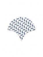 Azulejo escama de pez decor 5 15x14,2 cm pasta blanca. Un revestimiento de pasta blanca de alta calidad para decoraciones estilo vintage o retro.