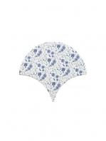 Azulejo escama de pez decor 6 15x14,2 cm pasta blanca. Un revestimiento de pasta blanca de alta calidad para decoraciones estilo vintage o retro.