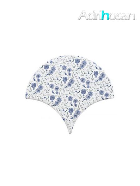 Azulejo escama de pez Jazz Decor 6 15x14,2 cm pasta blanca (Venta por piezas)