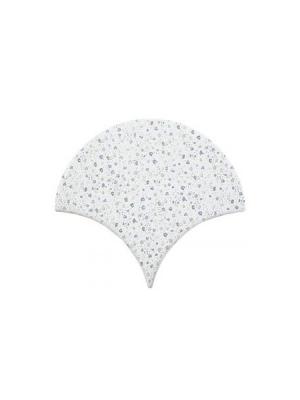 Azulejo escama de pez decor 8 15x14,2 cm pasta blanca. Un revestimiento de pasta blanca de alta calidad para decoraciones estilo vintage o retro.