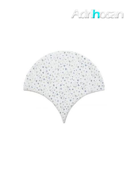 Azulejo escama de pez Jazz Decor 8 15x14,2 cm pasta blanca (Venta por piezas)