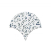 Azulejo escama de pez decor 9 15x14,2 cm pasta blanca. Un revestimiento de pasta blanca de alta calidad para decoraciones estilo vintage o retro.
