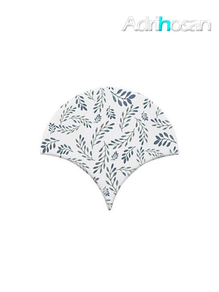 Azulejo escama de pez Jazz Decor 9 15x14,2 cm pasta blanca (Venta por piezas)
