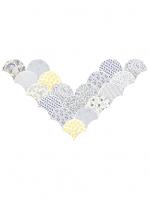 Azulejo escama de pez decor mix 15x14,2 cm pasta blanca. Un revestimiento de pasta blanca de alta calidad para decoraciones estilo vintage o retro.