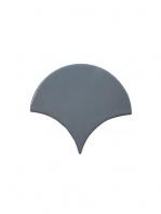 Azulejo escama de pez graphite 15x14,2 cm pasta blanca. Un revestimiento de pasta blanca de alta calidad para decoraciones estilo vintage o retro.