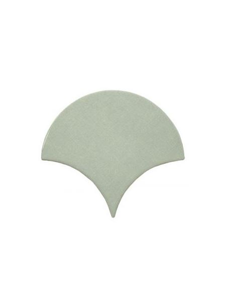 Azulejo escama de pez green 15x14,2 cm pasta blanca. Un revestimiento de pasta blanca de alta calidad para decoraciones estilo vintage o retro.