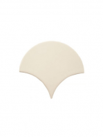 Azulejo escama de pez pale 15x14,2 cm pasta blanca. Un revestimiento de pasta blanca de alta calidad para decoraciones estilo vintage o retro.