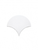 Azulejo escama de pez pearl 15x14,2 cm pasta blanca. Un revestimiento de pasta blanca de alta calidad para decoraciones estilo vintage o retro.