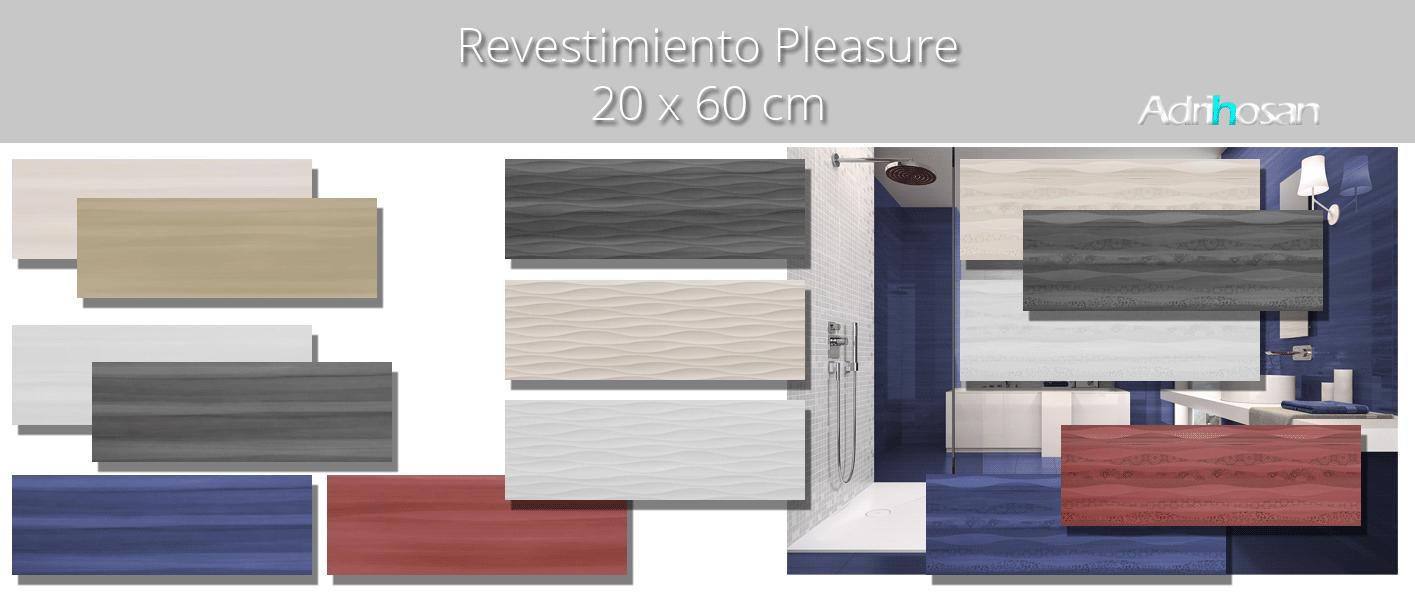 Revestimiento Pleasure brillo 20 x 60 cm. Una serie de azulejos para paredes de colores cálidos para cualquier diseño de tu cocina o baño.