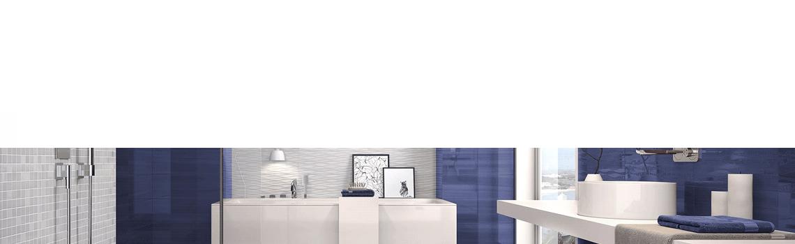 Revestimiento Pleasure cobalt brillo 20 x 60 cm. Una serie de azulejos para paredes de colores cálidos para cualquier diseño de tu cocina o baño.