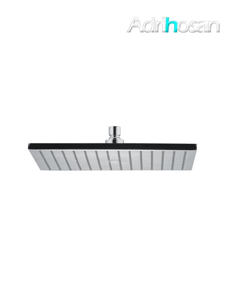 Rociador de ducha cuadrado Latón cromado / negro / blanco