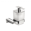 Dosificador de jabón a pared serie Alicante - Accesorio de baño. Accesorio de baño fabricado en latón de primera calidad acabado cromo.