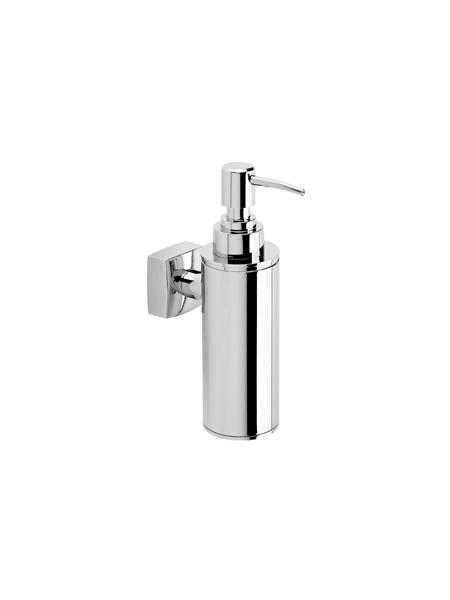 Dosificador metálico de jabón a pared serie Bilbao- Accesorio de baño. Accesorio de baño fabricado en latón de primera calidad acabado cromo.