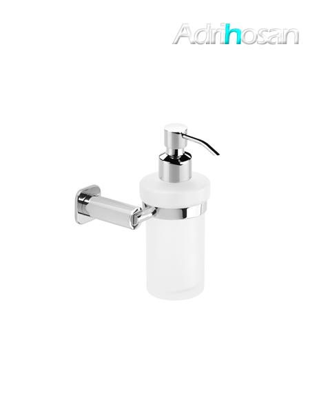 Dosificador cristal de jabón a pared serie Bilbao- Accesorio de baño