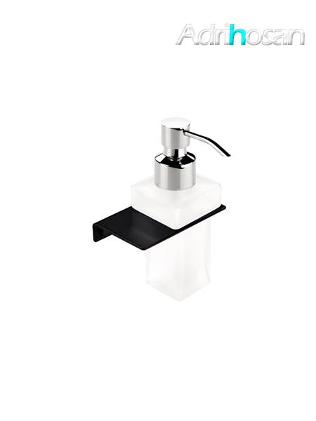 Dosificador de jabón a pared Negro serie Madrid- Accesorio de baño