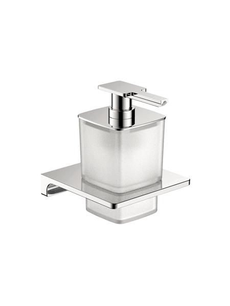 Dosificador de jabón a pared serie Líria- Accesorio de baño. Accesorio de baño fabricado en latón de primera calidad acabado cromo.