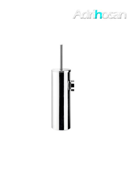 Escobillero a pared acero inox cromado 8 x 34 cm- Accesorio de baño