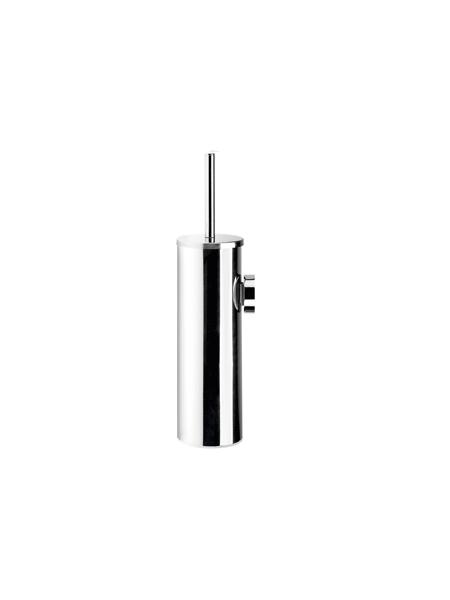 Escobillero a pared acero inox cromado. Un escobillero fabricado en acero inoxidable 304 y latón cromado con acabado brillo.