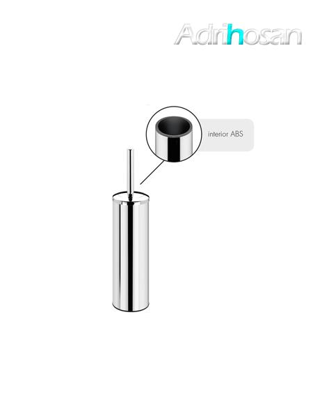 Escobillero sobre suelo wc acero inox cromado 8 x 38.7 cm- Accesorio de baño