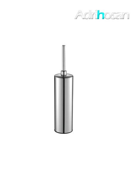 Escobillero sobre suelo wc acero inox cromado 8 x 41 cm- Accesorio de baño