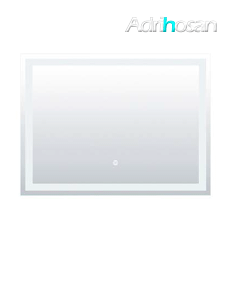 Espejo con iluminación led rectangular 100 x 80 cm