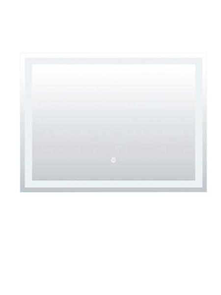 Espejo con iluminaci n led rectangular 100 x 80 cm adrihosan for Espejo rectangular con marco