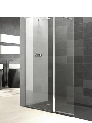 Fijo de ducha + lateral 32 cm abatible Perú cristal transparente antical. Vidrio Templado Securizado 6mm. Apertura Interior y Exterior. (90º+90º)