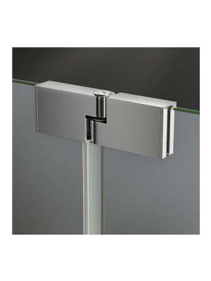 Fijo de ducha + lateral 32 cm abatible Polary Sport cristal transparente antical. Vidrio templado Securizado 8mm. Bisagra incorporada al extremo del vidrio.