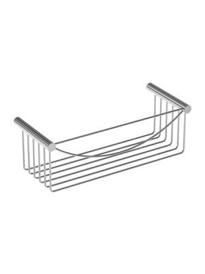 Jabonera de ducha cromada rectangular latón cromado 30 x 10 x 12 cm. Jabonera para colgar en pared de pequeño formato fabricada en latón cromado.