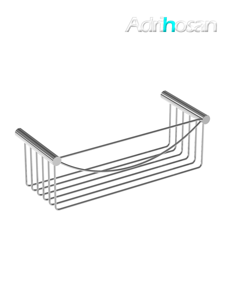 Jabonera de ducha cromada rectangular latón cromado 30 x 10 x 12 cm