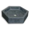 Lavabo micromortero sobre encimera Hexael 50x57x13 color azul hegeo. Acabado microcemento efecto efecto hormigón bruñido, color azul hegeo.