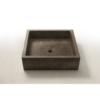 Lavabo micromortero sobre encimera Kubik 50X60X18 color cemento. Acabado microcemento efecto efecto hormigón bruñido, color cemento/personalizable.