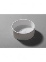Lavabo Solid Surface circular Bobbio D32 x 25 cm. Un lavabo con bonita forma estilizada fabricado en brillo o mate en Solid Surface.