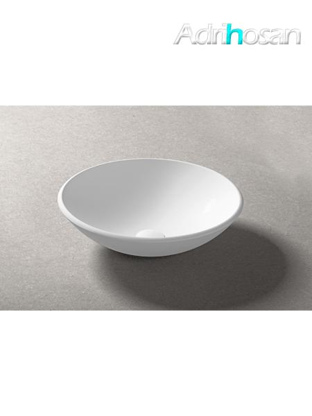 Lavabo Solid Surface circular Portofino D36 x 13 cm blanco