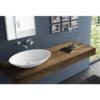Lavabo Solid Surface ovalado Vaccolino 58 x 42 x 12 cm. Un lavabo con bonita forma estilizada fabricado en brillo o mate en Solid Surface.