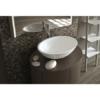 Lavabo Solid Surface ovalado Monticelli 50 x 35 x 16 cm. Un lavabo con bonita forma estilizada fabricado en brillo o mate en Solid Surface.