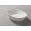 Lavabo Solid Surface ovalado Positano 50 x 30 x 12 cm. Un lavabo con bonita forma estilizada fabricado en brillo o mate en Solid Surface.