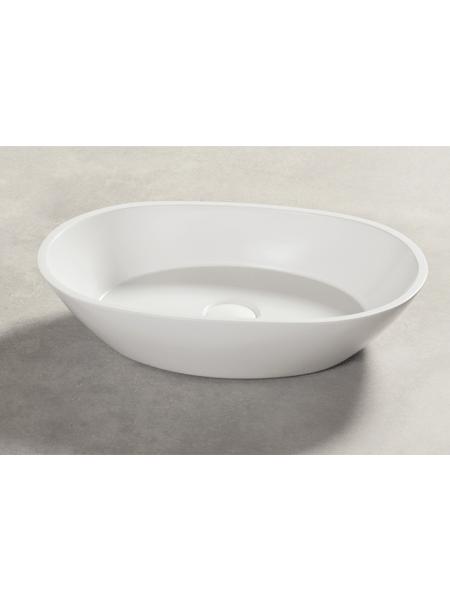 Lavabo Solid Surface ovalado Varenna 45 x 30 x 12 cm. Un lavabo con bonita forma estilizada fabricado en brillo o mate en Solid Surface.
