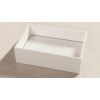 Lavabo Solid Surface rectangular Bellagio 45 x 35 x 12 cm. Un lavabo con bonita forma estilizada fabricado en brillo o mate en Solid Surface.