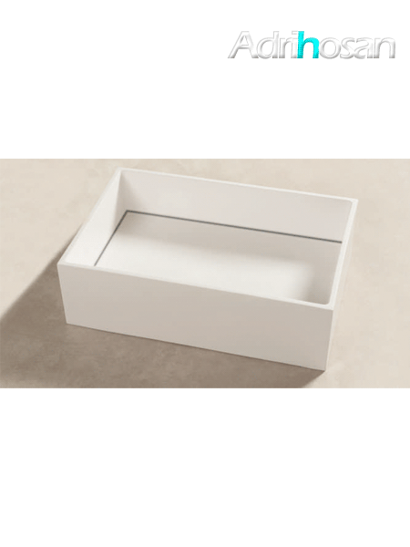 Lavabo Solid Surface rectangular Bellagio 60 x 40 x 15 cm blanco