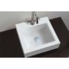 Lavabo Solid Surface rectangular box 40 x 38 x 12 cm blanco. Un Lavabo sobre encimera o suspendido que podemos suministrar en mate o brillo.