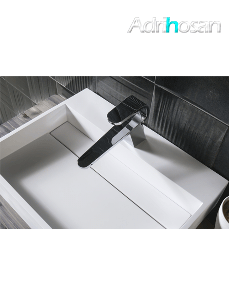 Lavabo Solid Surface rectangular Castelsardo 50 x 30 x 11 cm blanco