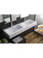 Lavabo Solid Surface rectangular Il Calice 60.5 x 46 x 12 cm blanco. Un Lavabo sobre encimera o suspendido que podemos suministrar en mate o brillo.