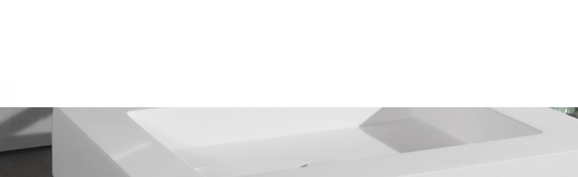 Lavabo Solid Surface rectangular Manarola 50,5 x 41 x 9 cm blanco. Un Lavabo sobre encimera que podemos suministrar en mate o brillo.