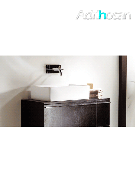 Lavabo Solid Surface rectangular Matera 79 x 39 x 15 cm blanco