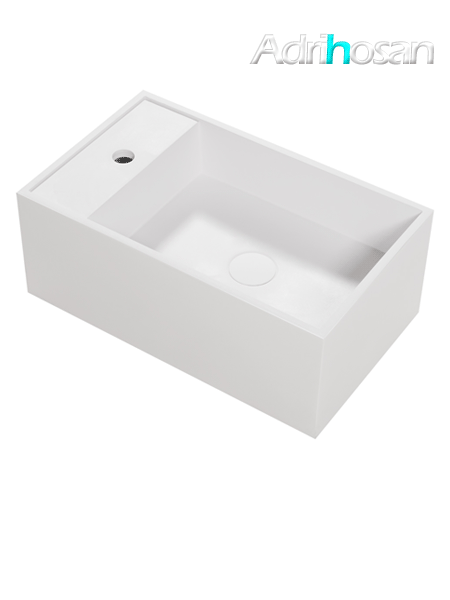 Lavabo Solid Surface Ravello 50 x 30 x 15 cm blanco