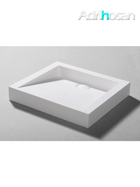 Lavabo Solid Surface rectangular Scanno 50 x 45 x 7 cm blanco