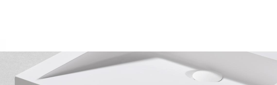 Lavabo Solid Surface rectangular Scanno 50 x 45 x 7 cm. Un lavabo con bonita forma estilizada fabricado en brillo o mate en Solid Surface.