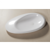 Lavabo Solid Surface ovalado Stone 87,7 x 50 x 9 cm. Un lavabo con bonita forma estilizada fabricado en brillo o mate en Solid Surface.